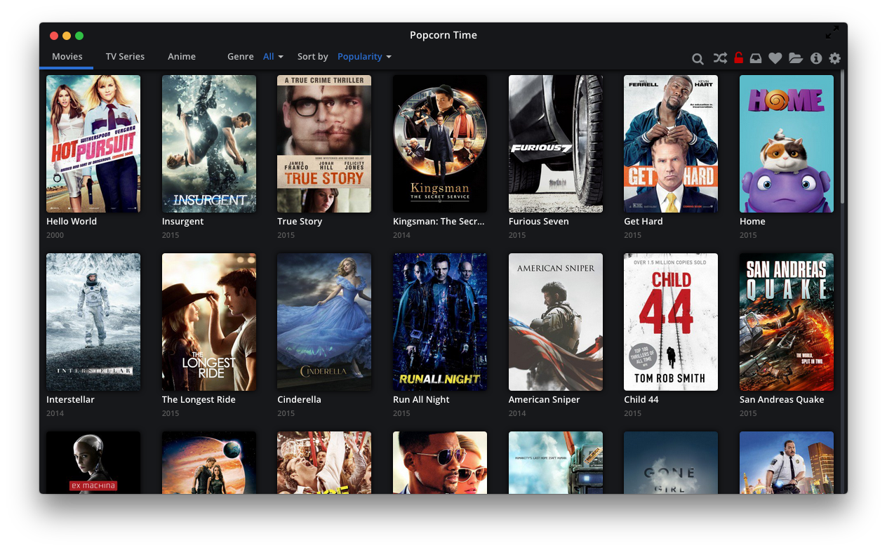 Popcorn Time Content Spoofing